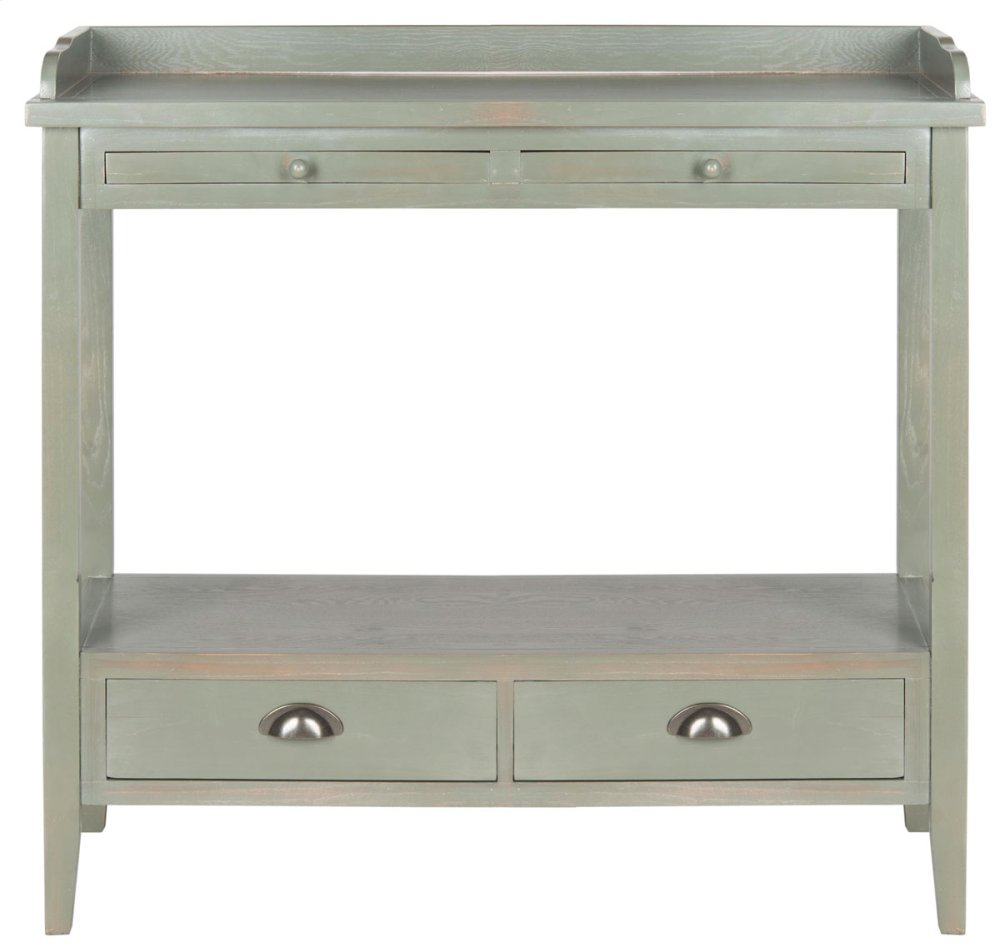 Peter Console With Storage Drawers - French Grey