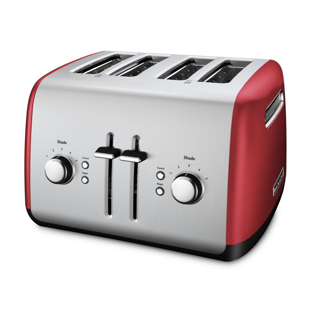 4-Slice Toaster with Manual High-Lift Lever - Empire Red  EMPIRE RED