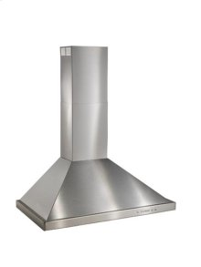 "30"" Brushed Stainless Steel Wall Mount Chimney Hood with Internal 300 CFM Blower"