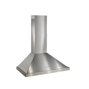 "Best30"" Brushed Stainless Steel Wall Mount Chimney Hood with Internal 300 CFM Blower"