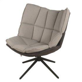 Dillon Fabric Swivel Chair Black Base, Argos/Bistre