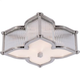 Visual Comfort AH4018PN/CG-FG Alexa Hampton Lana 2 Light 15 inch Polished Nickel with Clear Glass Flush Mount Ceiling Light