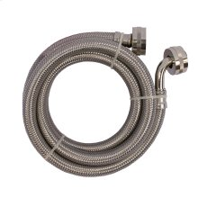 """3/4"""" FHT x 60"""" Stainless Steel Washing Machine Connection with Long 90° End"""