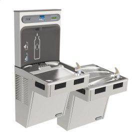 Elkay EZH2O Bottle Filling Station with Bi-Level ADA Cooler, Non-Filtered Non-Refrigerated Stainless