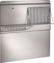 """42"""" Backsplash with shelves in Stainless Steel Product Image"""