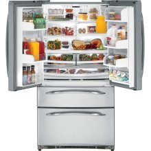 GE Profile 24.7 Cu. Ft. Refrigerator with Armoire Styling and Icemaker