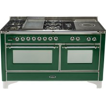 Emerald Green with Chrome trim - Majestic 60-inch Range with Griddle