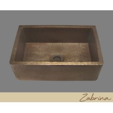 Zabrina - Farmhouse Kitchen Sink - Textured Pattern - Pewter