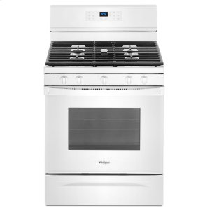 5.0 cu. ft. Freestanding Gas Range with Fan Convection Cooking - WHITE