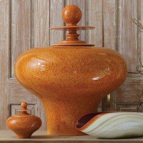 Happy Temple Jar-Orange-Squat