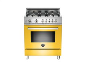 Yellow 30 4-Burner, Electric Self Clean Oven