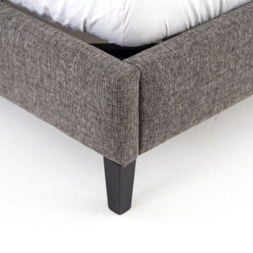 """King Size 48"""" Headboard Height Madison Upholstered Bed"""