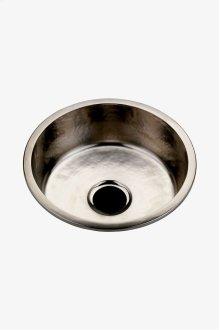 "Normandy 17 11/16"" x 17 11/16"" x 6 1/2"" Hammered Copper Round Kitchen Sink with Center Drain STYLE: NOSK14"