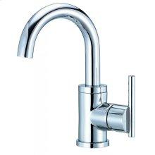 Chrome Parma® 1H Lavatory Faucet Single Hole Mount w/ Metal Touch Down Drain 1.2gpm