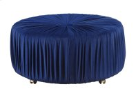 Round Ottoman, Blue Product Image