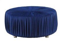 Round Ottoman, Blue