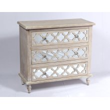 Emerald Home Ac701-05 Canterwood Accent Cabinet, Whitewash