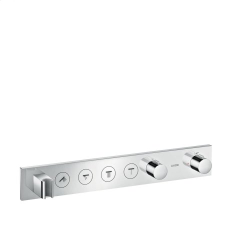Chrome Thermostatic module Select 600/90 for concealed installation for 4 functions