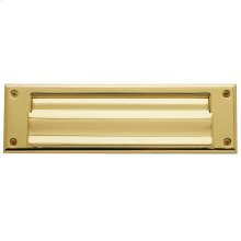 Lifetime Polished Brass Letter Box Plates