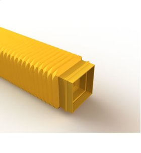 Mighty Mo Fiber Raceway, Flexible Tubing open, with cover, 50mmsq, 350mmlg yellow