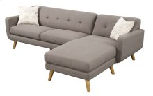 Remix - Sofa/chaise- Lsf Loveseat - Rsf Chaise Brown W/2 Accent Pillows