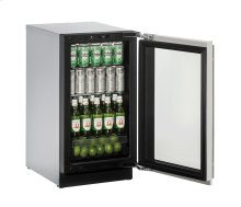 """Modular 3000 Series 18"""" Glass Door Refrigerator With Stainless Frame (lock) Finish and Left-hand Hinged Door Swing (115 Volts / 60 Hz)"""