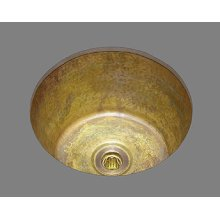 B0300 - Medium Round Bar Sink - Plain Pattern - Antique Brass