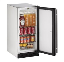 """15"""" Outdoor Refrigerator Stainless Solid (Lock) Field Reversible"""