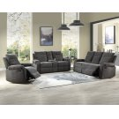 "Empire Console Loveseat Charcoal 74""x38""x39"" Product Image"