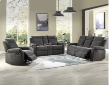 "Empire Console Loveseat Charcoal 74""x38""x39"""