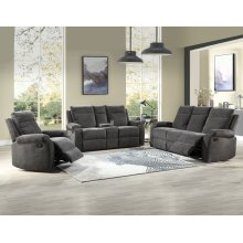"""Empire Console Loveseat Charcoal 74""""x38""""x39"""""""