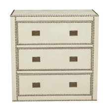Leather Trunk Drawer Chest
