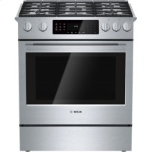 GINORMOUS SAVINGS!!! BOSCH Benchmark Series FLOOR MODEL , All-Gas Slide-In Range / THE BOTTOM DRAWER DIFFICULT TO OPEN / WORTH TAKING AT THIS PRICE!!! AND - FULL WARRANTY
