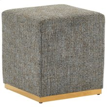 Hugo Square Ottoman in Camel Blend & Gold