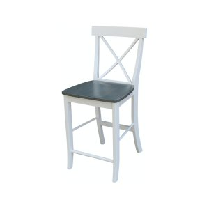 JOHN THOMAS FURNITURE X-Back Stool In White Grey