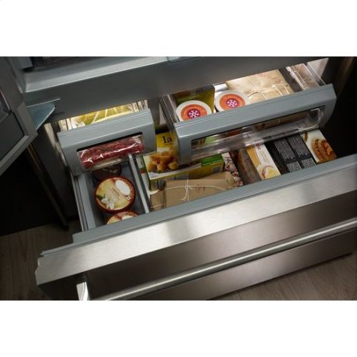 "KitchenAid® 24.2 Cu. Ft. 42"" Width Built-In Stainless French Door Refrigerator with Platinum Interior Design - Stainless Steel"