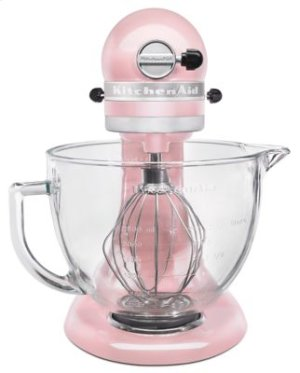Artisan® Design Series 5 Quart Tilt-Head Stand Mixer with Glass Bowl - Silk Pink
