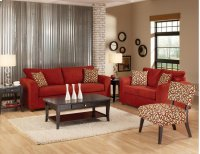 Victory Lane Cardinal / Sangria Loveseat Product Image