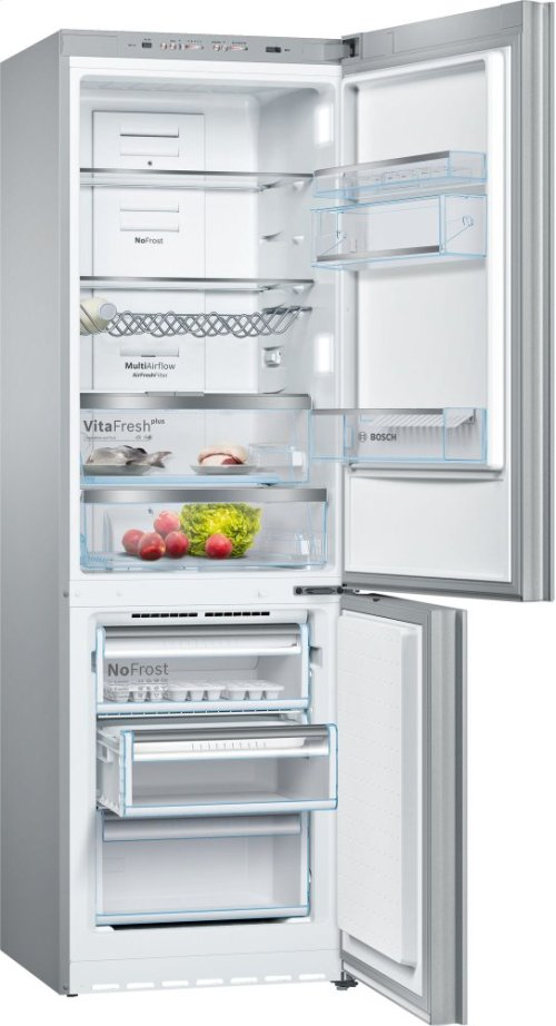 800 Series, Free-standing fridge-freezer-White Glass Door