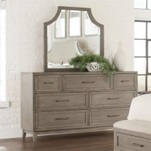 Vogue - Seven Drawer Dresser - Gray Wash Finish