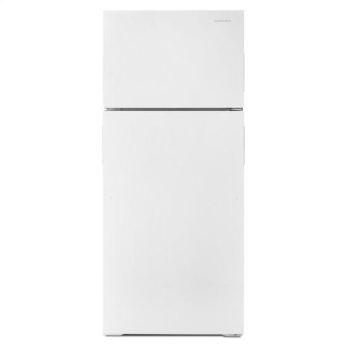 28-inch Top-Freezer Refrigerator with Gallon Door Storage Bins - white
