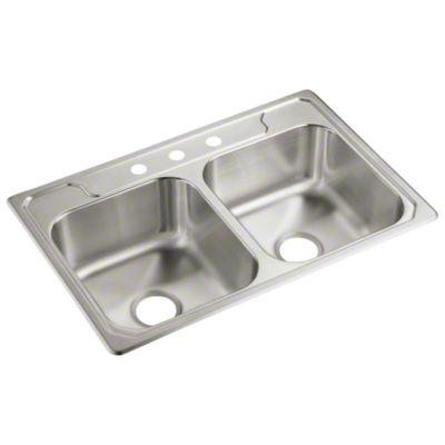 "Middleton™ Double-basin Kitchen Sink, 33"" x 22"" x 7"""