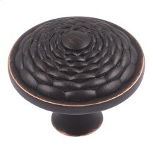Mandalay Round Knob 1 5/16 Inch - Venetian Bronze