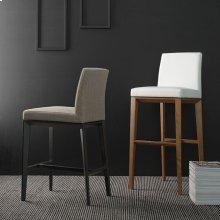Upholstered wooden stool