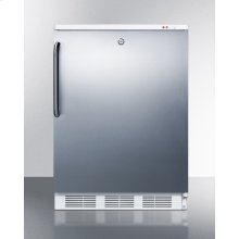 Freestanding Medical All-freezer Capable of -25 C Operation, With Front Lock, Wrapped Stainless Steel Door and Towel Bar Handle