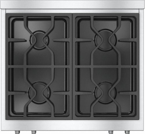 KMR 1124 LP RangeTop with 4 burners for professional applications