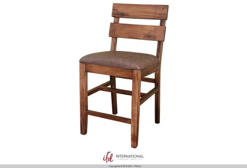 "30"" Barstool with Faux Leather seat**"