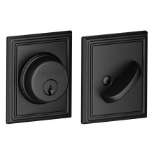 Single Cylinder Deadbolt with Addison trim - Matte Black