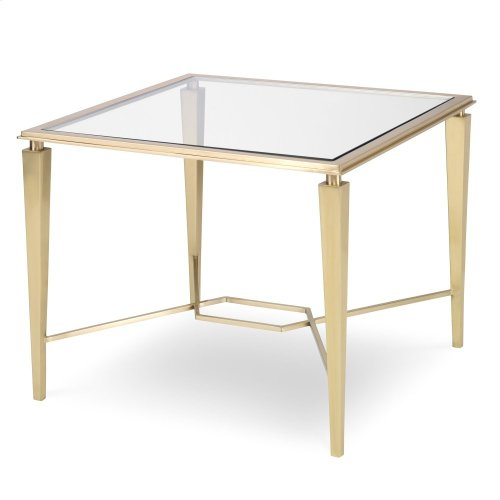 Intersection Side Table - Brass