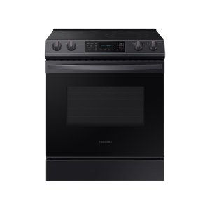 Samsung Appliances6.3 cu. ft. Front Control Slide-In Electric Range with Convection & Wi-Fi in Black Stainless Steel
